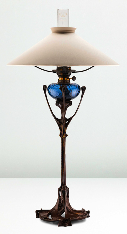 Table lamp from the maison coilliot in lille  france   hector guimard  circa 1900.