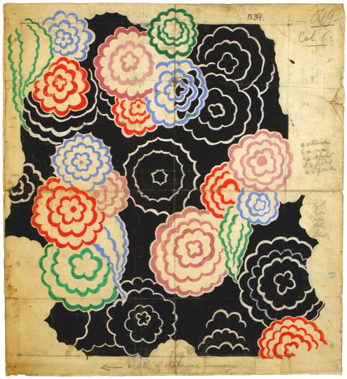 Sonia delaunay  a page from her sketchbook  textile design