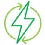 Green renewable electricity icon