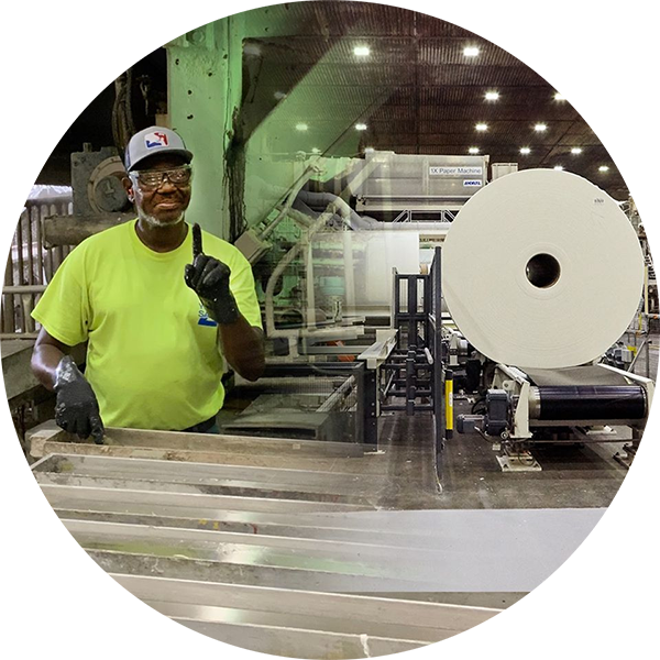 Charmin factory worker