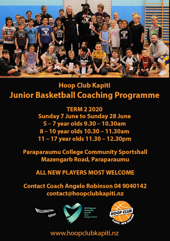 Hoop Club Kapiti Junior Basketball Coaching Programme