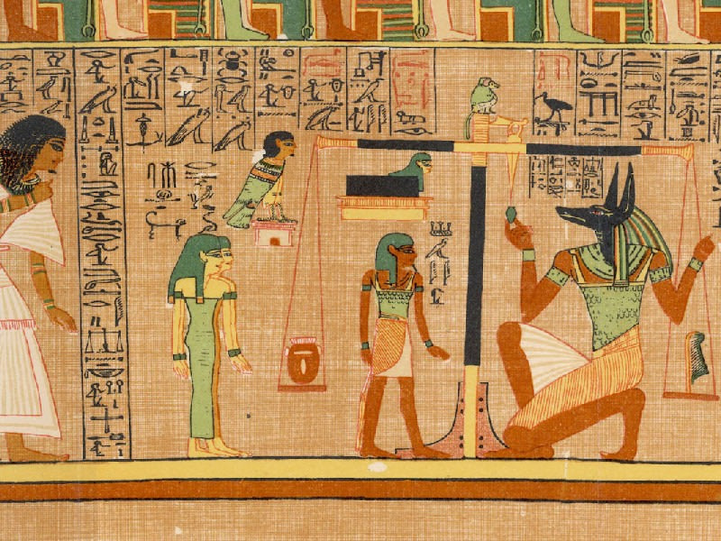 Picture of Anubis from the Egyptian Book of the Dead