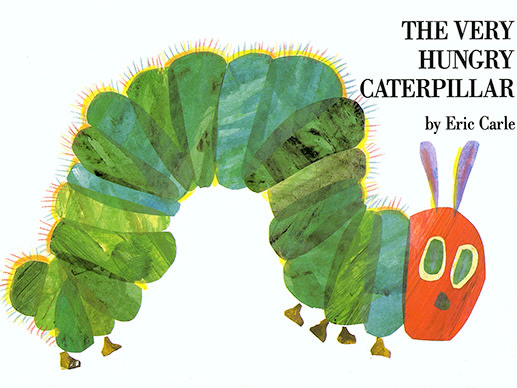 Book jacket of Eric Carle's The Very Hungry Caterpillar, first published in 1969.