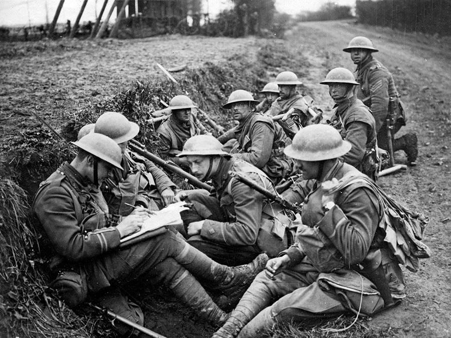 British soldiers on the Western Front