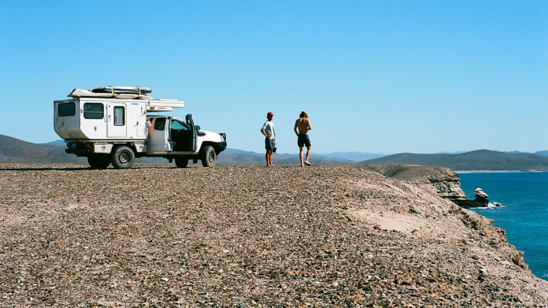 Nomadic Surf Camping in Baja, Captured on 35mm Film