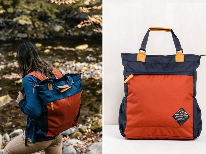 This Tote Converts Into A Backpack United By Blue Best Unisex Backpack For Spring Field Mag