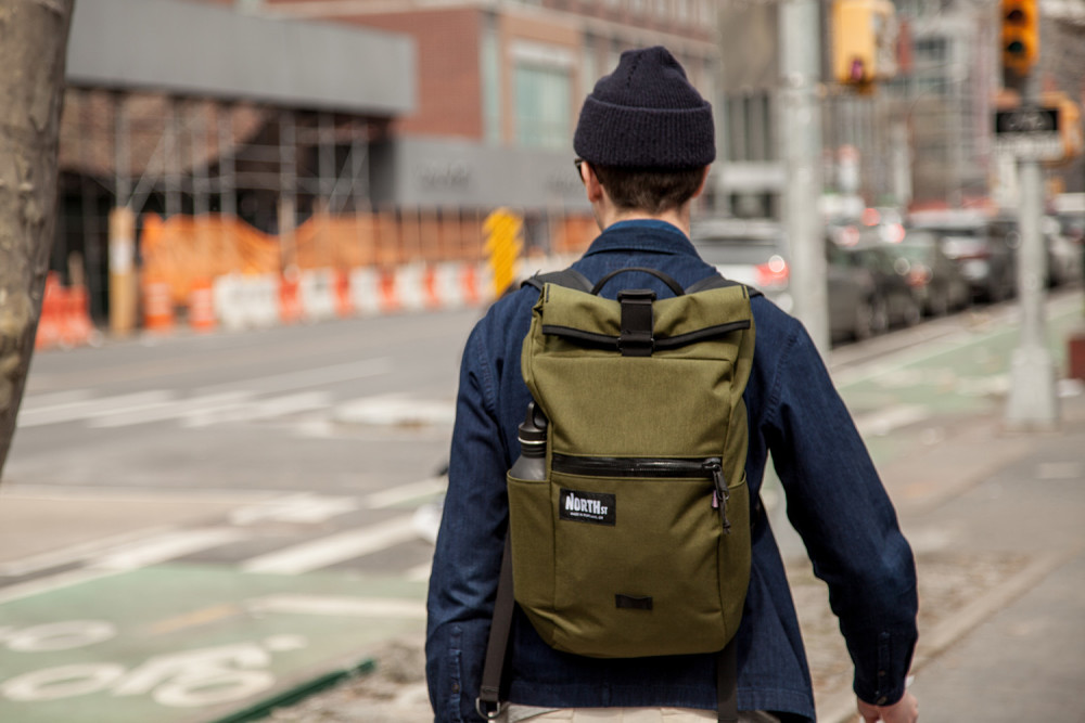 North St Bags Introduces Edc Davis Daypack The Best Made In Usa Roll Top Backpack Field