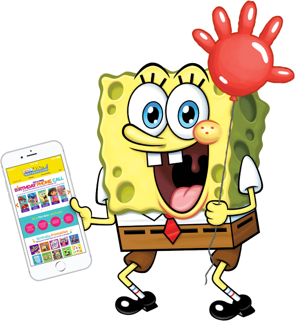 Bob Squarepants Nick Jr. Birthday Club