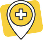 Location Pin for Canadian Clinics Clinics. Illustration.