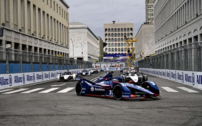 Envision Virgin Racing car in the Rome E-Prix