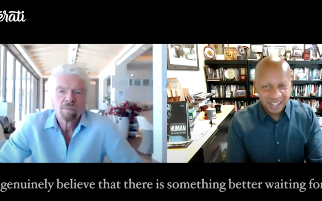Richard Branson speaking to Bryan Stevenson