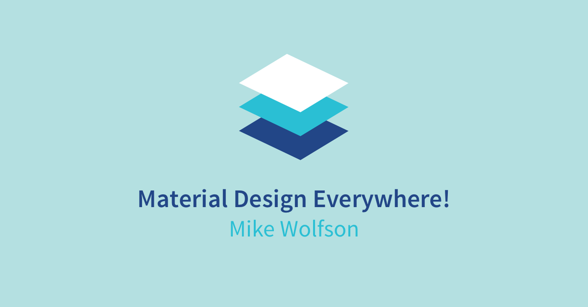 Material Design Everywhere, Using Android Support Libraries