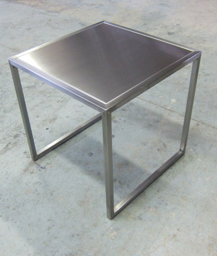 Custom Metal Frame End Table