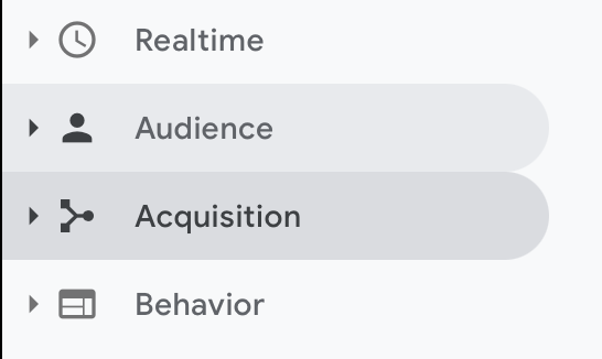 Referral Exclusion Google Analytics - Select Acquisition