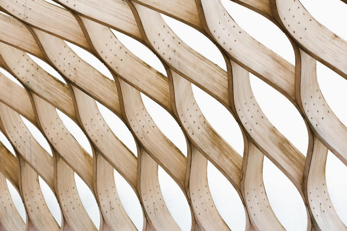 wooden sculpture abstract photo
