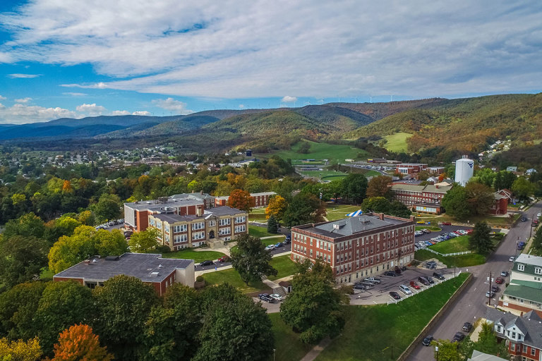 Aerial view of Potomac State College