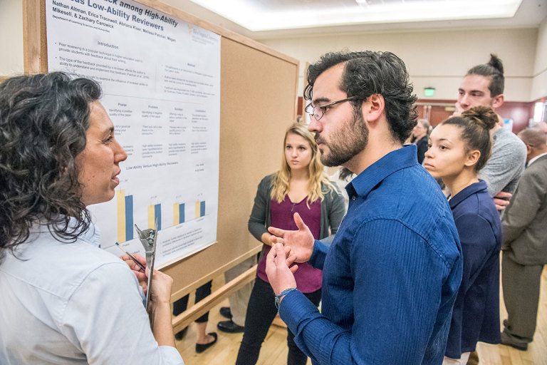 Students present research poster at Celebration of Scholarship
