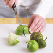 Remove the papery outer husks from the tomatillos. Rinse the fruit well, then chop it.