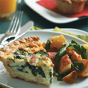 Ham Spinach Quiche Recipe
