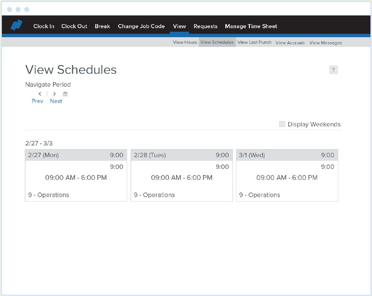 Time Screenshot 03 View Schedule