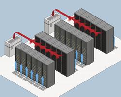 Hot aisle cold aisle servers
