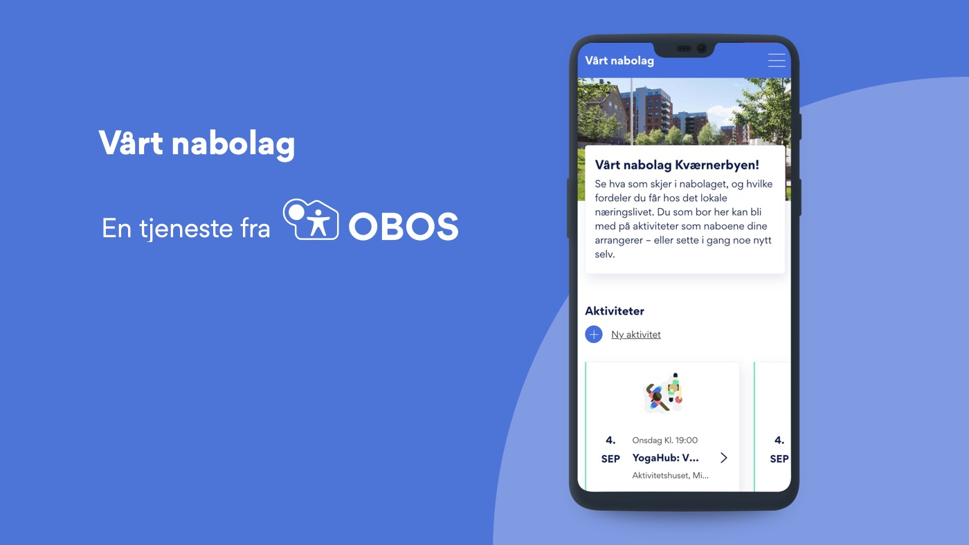 Screenshot of the new OBOS application together with OBOS' logo.