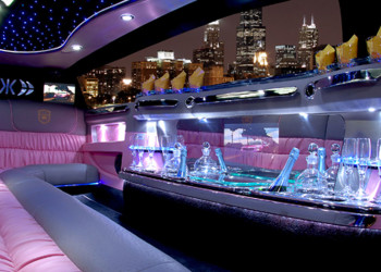 pink limousine form inside photo