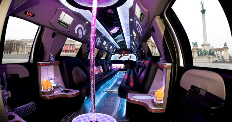 hummer daddy limo from inside photo
