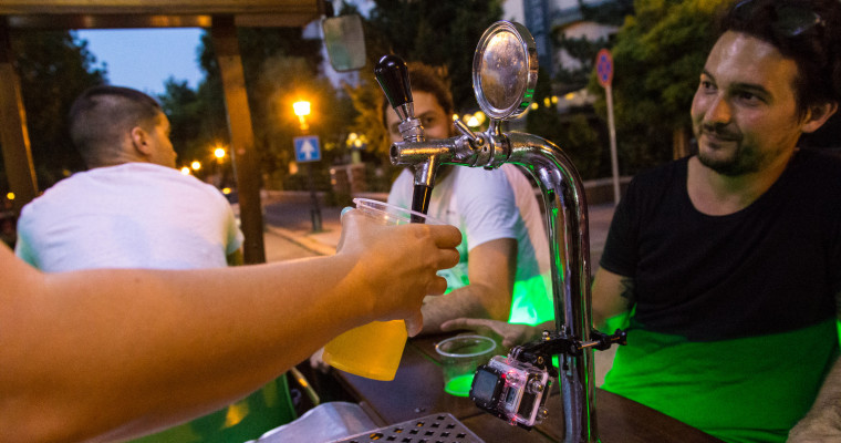 Beer bike in Prague - Pissup Stag Do