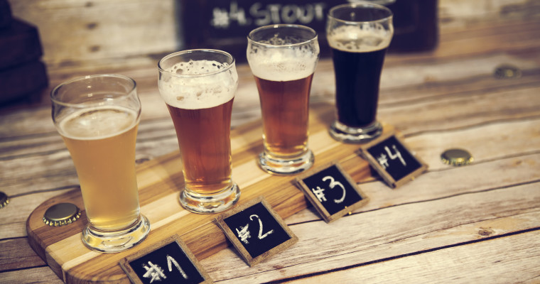 beer tasting with 4 beers SHT