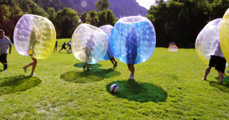 Bubble Football on stag do