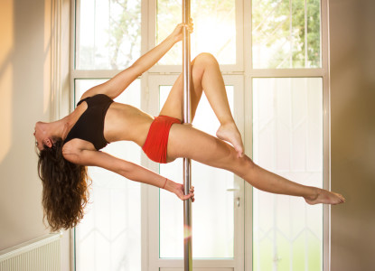 Pole dance lesson in Prague