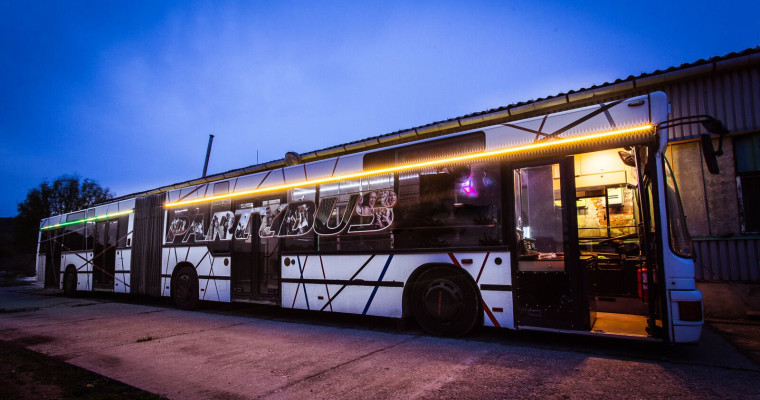 party bus in budapest - stag do