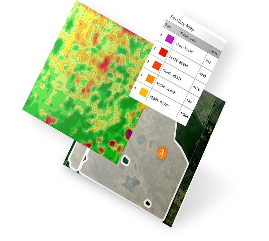 Screen capture of Decisive Farming application