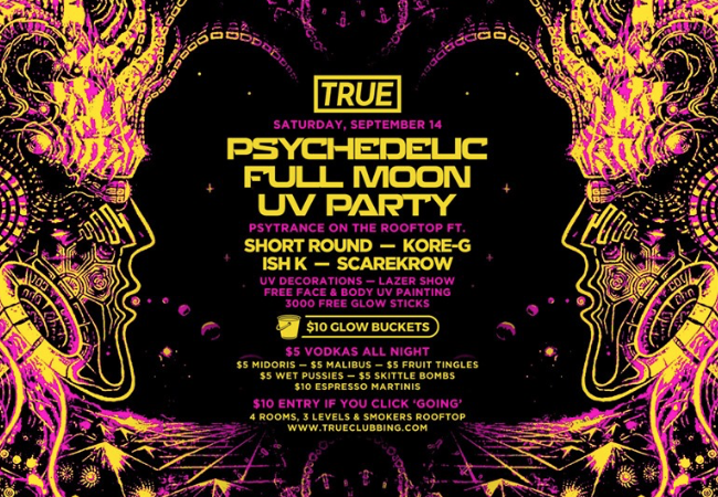 Psychedelic Full Moon UV Party September