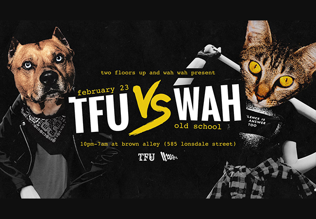 TFU vs WAH • Old School • Feb 23 • Brown Alley