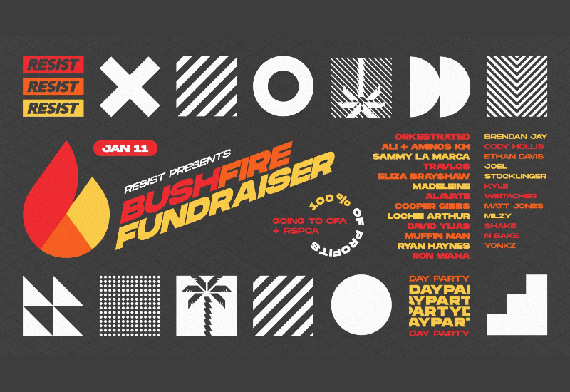 Bushfire Fundraiser Day Party ▬ Brown Alley