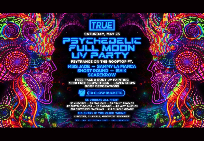 Psychedelic Full Moon UV Party