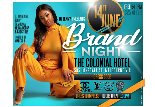 DJ Jenny Presents Brand Night