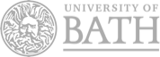 University of Bath Logo - White