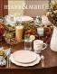 festive dinner table set