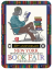 drawing of person drinking coffee while reading stack of books