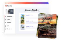 Create your own virtual stacks of publications to sell, graphical user interface