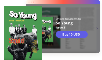Issuu user interface, So Young publication.