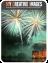 fireworks lighting up the night sky over castle