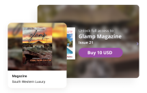 Sell your content with Issuu. Graphical user interface, digital sales with Glamp Magazine.