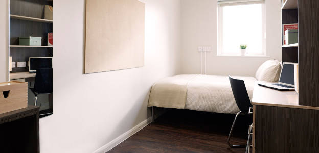 Bedroom at Lambert and Fairfield House student residences
