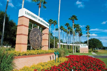 Campus sign at University of South Florida
