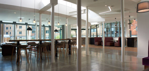Common area at Wilmslow Park House student residences