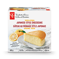 A box of Yuzu citrus Japanese-style cheesecake